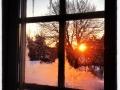 Vacker vintermorgon