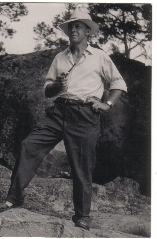 Farfar Holger vid Barnvik